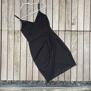 LULUS Black Sleeveless Draped Mini Skirt
